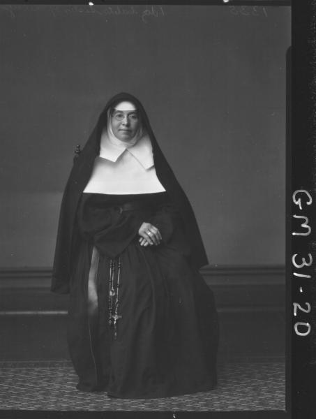 portrait of nun, F/L Sister of Mercy