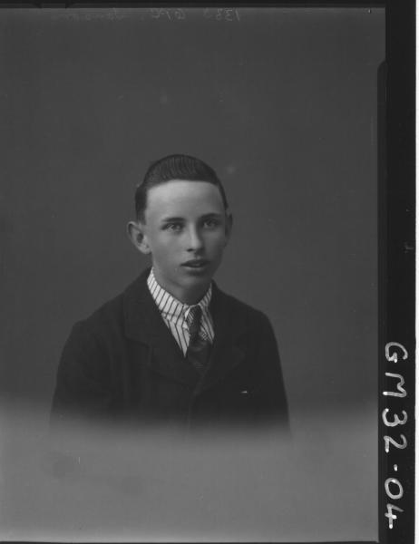 portrait of young man, H/S Sanson