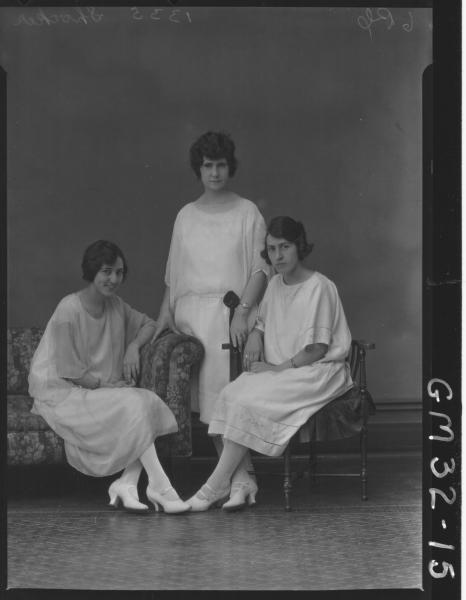 portrait of three young women, F/L Shocker
