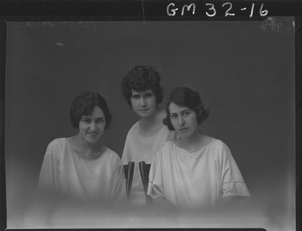 portrait of three young women, H/S Shocker