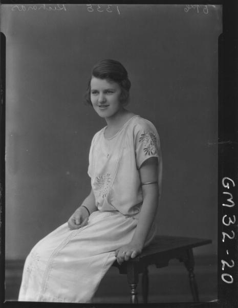 portrait of young woman, F/L Richards