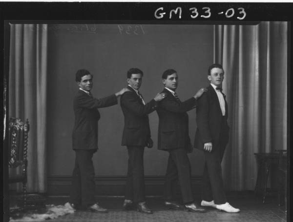 portrait of four young men, F/L Grbic