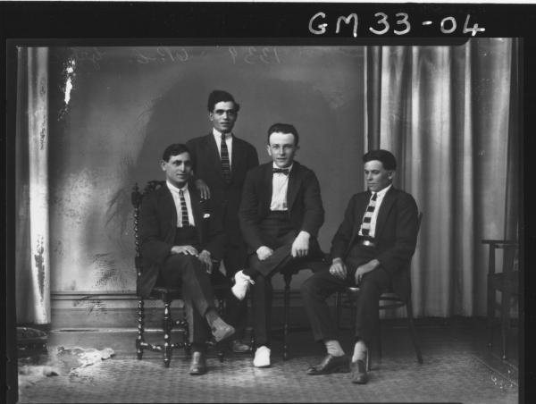 portrait of four young men, F/L Grbic