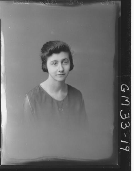 portrait of young woman, H/S Hall