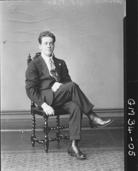 portrait of young man, F/L Hooker