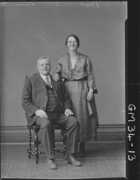 portrait of woman and man, F/L Hammond