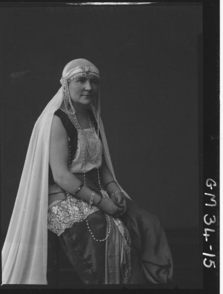 portrait of woman in fancy dress, Walker