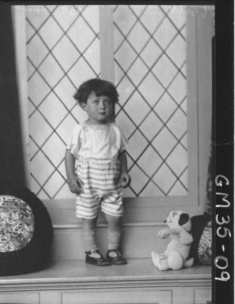 portrait of boy, F/L Agnew