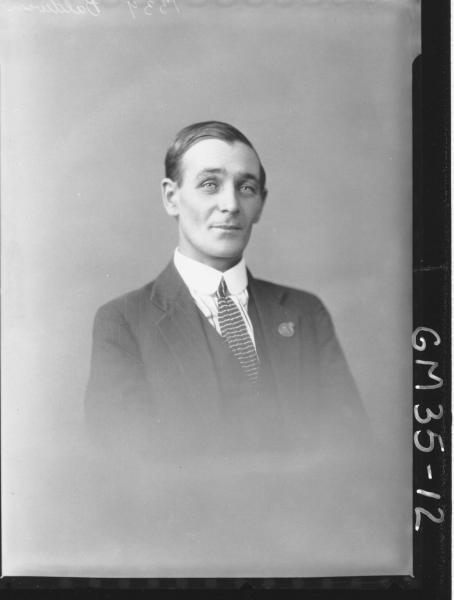 portrait of man, H/S Baldwin