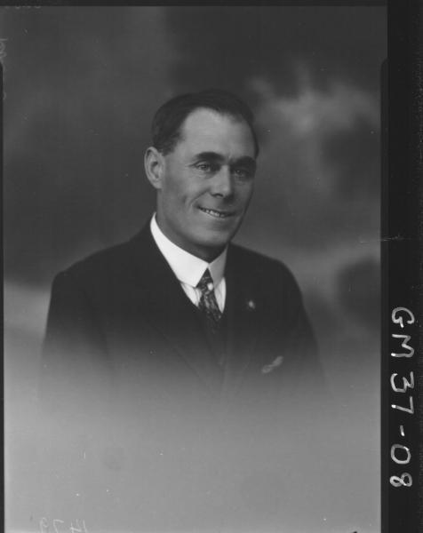 portrait of man, H/S Rowe