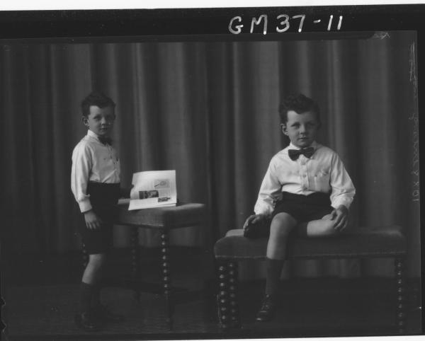 two portrait pose of boy, F/L Regan