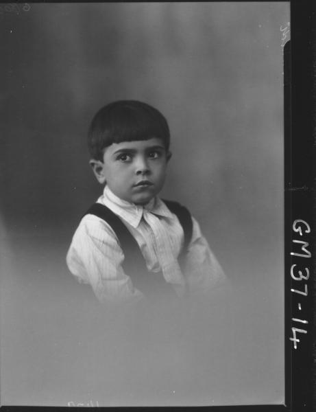 portrait of boy, H/S Ranaldi