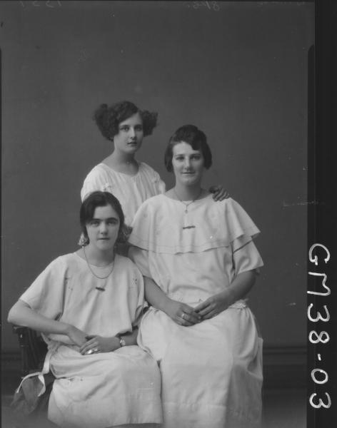 portrait of three young women, Bordoni