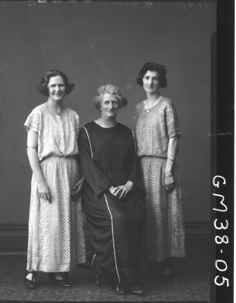 portrait of three women, F/L Bennetts