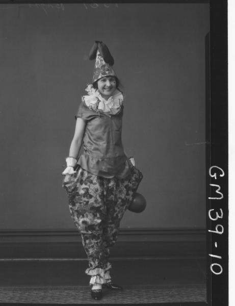 portrait of woman fancy dress, F/L Berry
