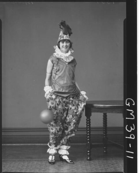 portrait of woman fancy dress, F/L Brown