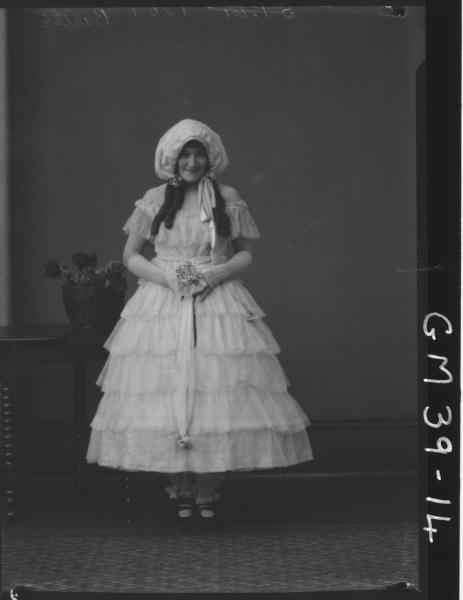 portrait of woman fancy dress, Bartle
