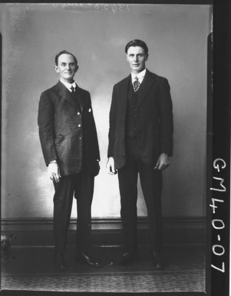 portrait of two men, F/L Simpson
