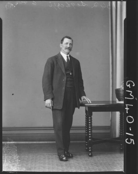 portrait of man, F/L Seghezzi