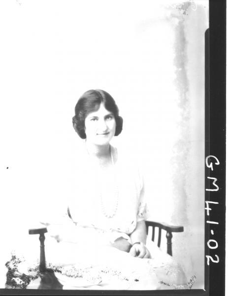 portrait of young woman, Shellenburger