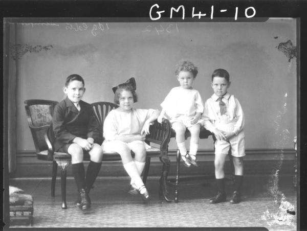 portrait of four young children, F/L Simpson