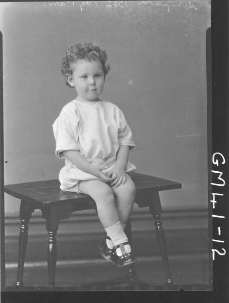 portrait of young child, F/L Simpson