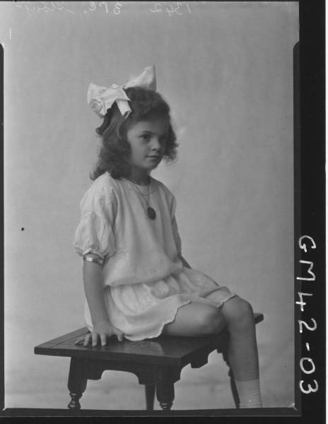 portrait of young girl, F/L Stout