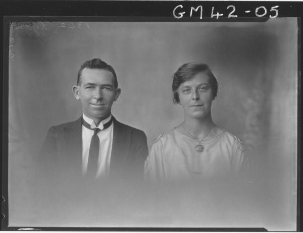 portrait of woman and man, H/S Ryan