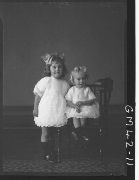 portrait of two young children, F/L Vallender