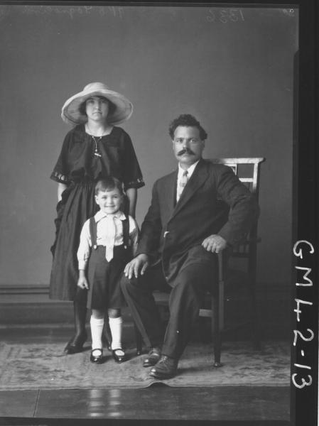 portrait of woman, man and boy, F/L Tagnolini