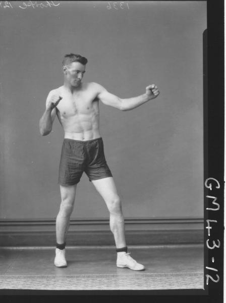 portrait of young boxer, F/L Thorpe