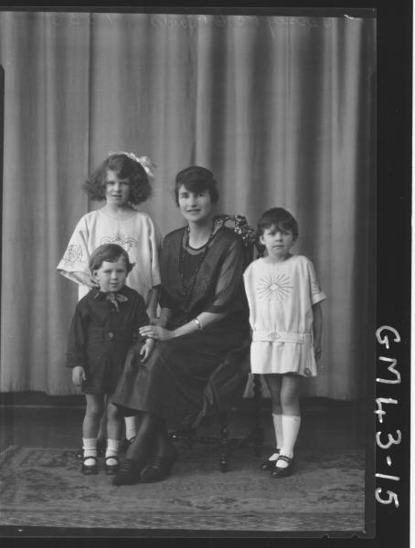 portrait of woman and three children, F/L Vessey