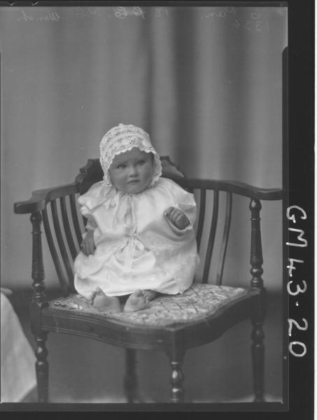 portrait of baby, F/L Winch