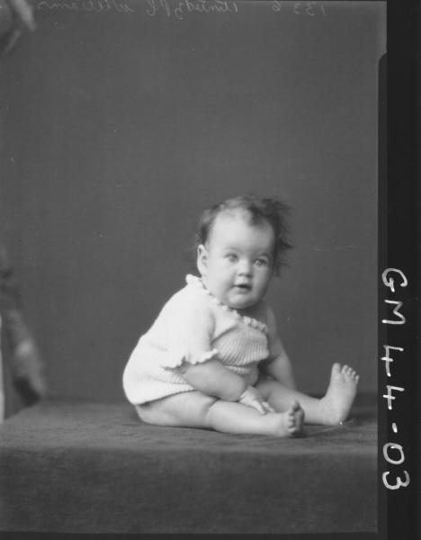 portrait of baby, Williams