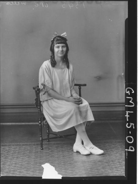 portrait of young woman, F/L Wells