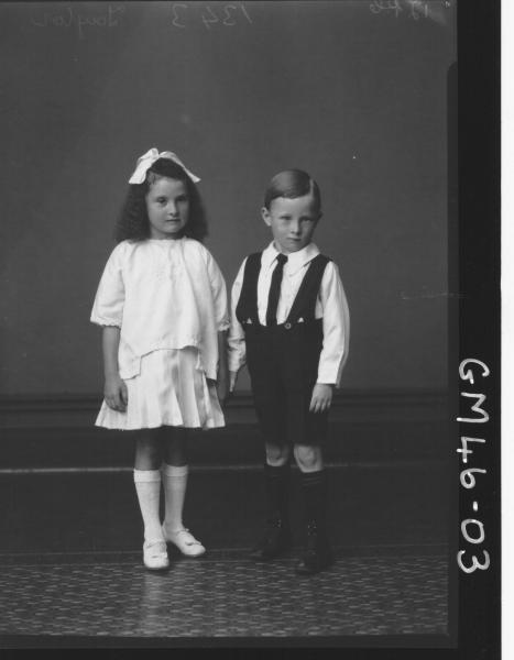 portrait of girl and boy, F/L Taylor