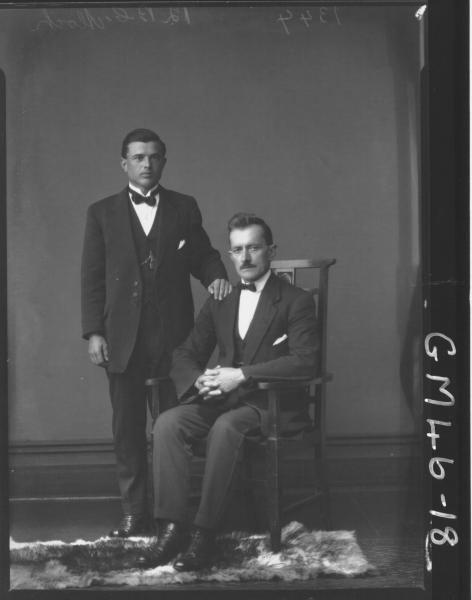 portrait of two men, F/L Aloch