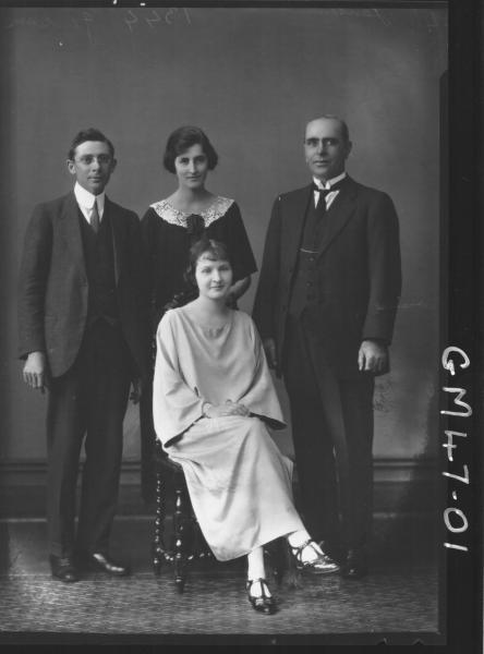portrait of two women and two men, F/L Jenson