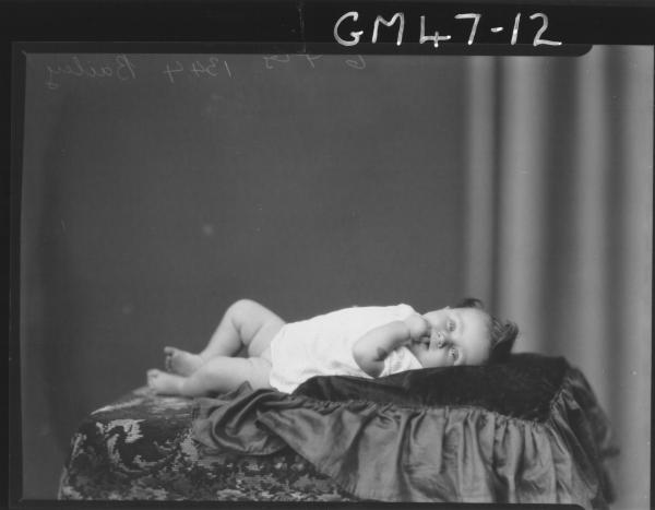 portrait of baby, F/L Davies