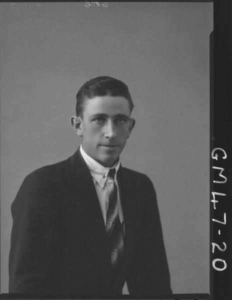 portrait of young man, H/S Craig