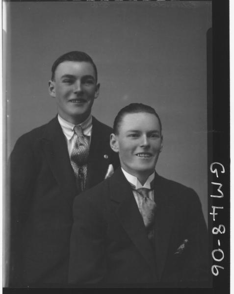portrait of two young men, H/S Edwards