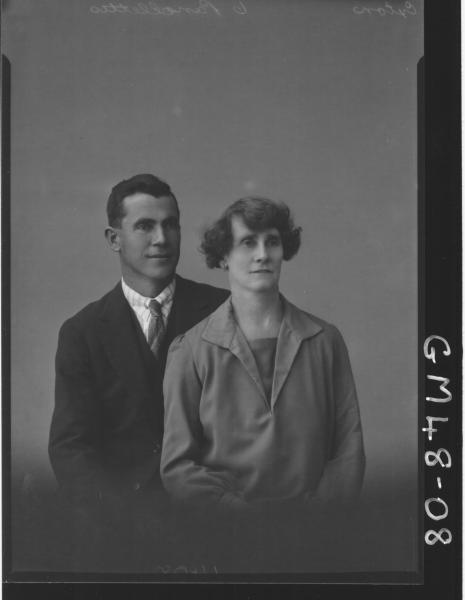 portrait of woman and man, H/S Exton