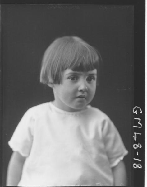 portrait of child, H/S Pinkerton