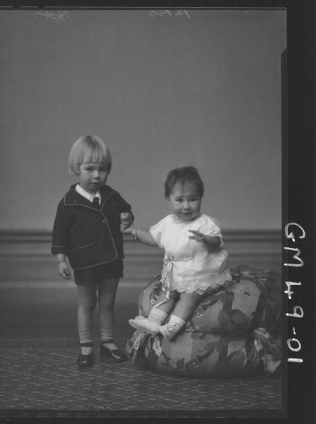 portrait of two young children, F/L Post