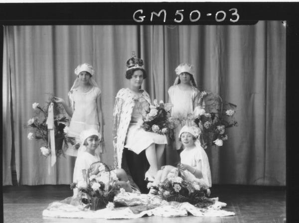 carnival queen and four attendants, Kidd