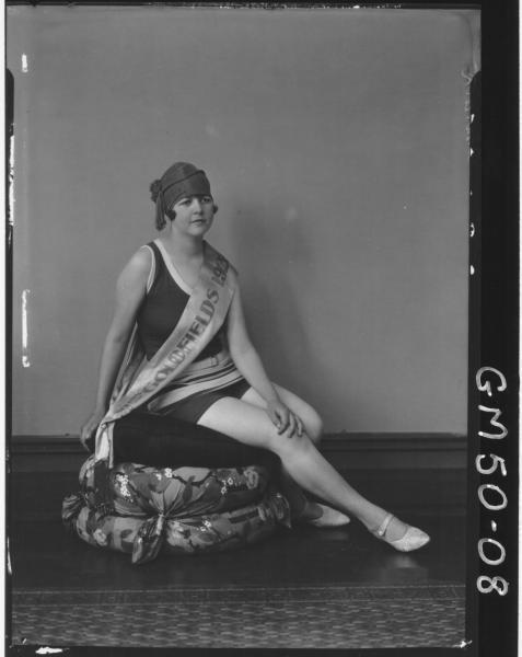 Miss Goldfields in swimsuit 1926, F/L Churack