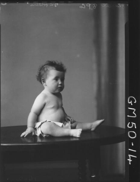 portrait of baby, Edgell
