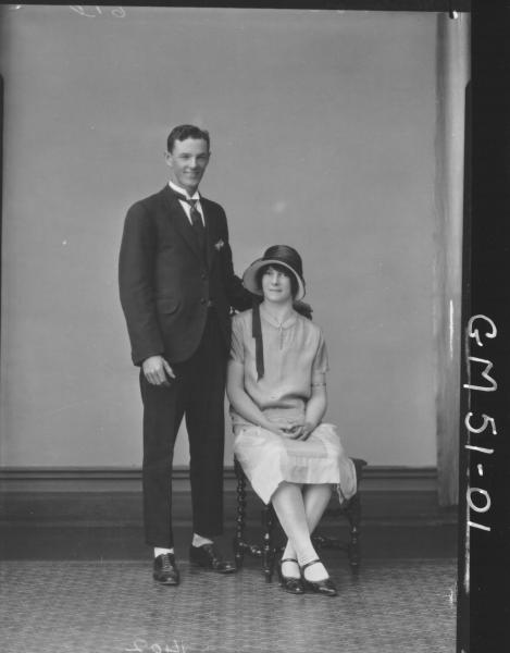 portrait of woman and man, F/L Henderson