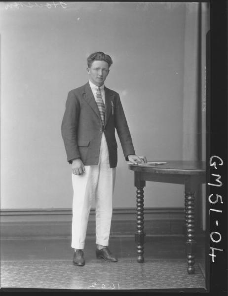 portrait of young man, F/L Houston