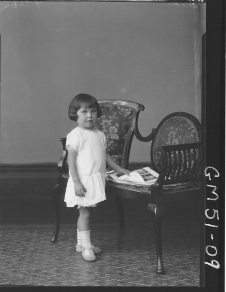 portrait of child, F/L Hicks